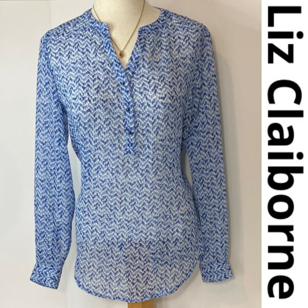 Liz Claiborne Womens Long Sleeves Blouse Size Small $9.50
