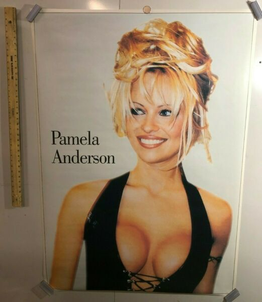HUGE SUBWAY POSTER Pamela Anderson Baywatch Raw Justice Tommy Lee Playboy Mag