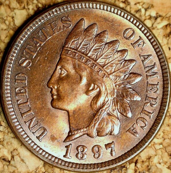 1897 Indian Head Cent - MS+++ SNOW-9POLIQUIN PLATE COIN RPD LUSTER (J501)