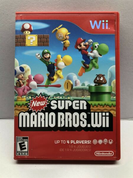 New Super Mario Bros Wii Nintendo Wii Complete w Manual Clean amp; Tested $33.29
