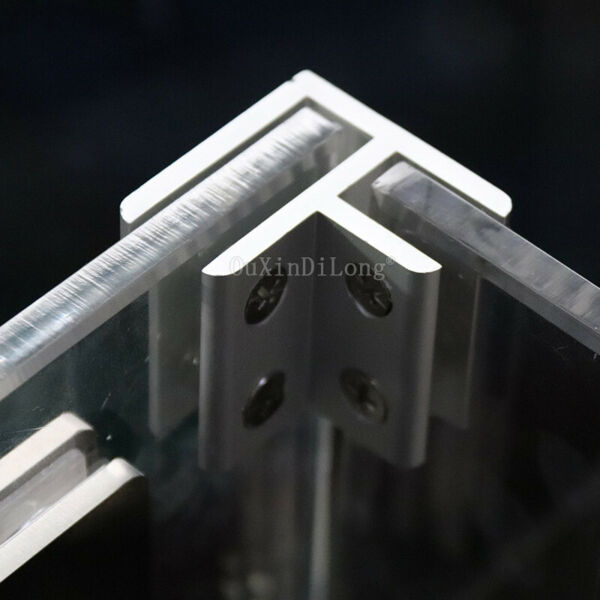 50PCS Space Aluminum Glass Clamps Clips Board Frame Support Brackets Connectors