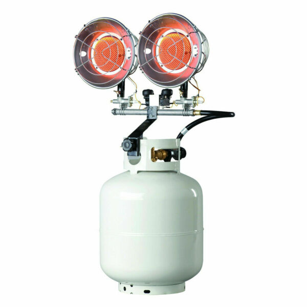 Mr. Heater MH30T Double Tank Top Outdoor Propane Heater (Propane not Included)