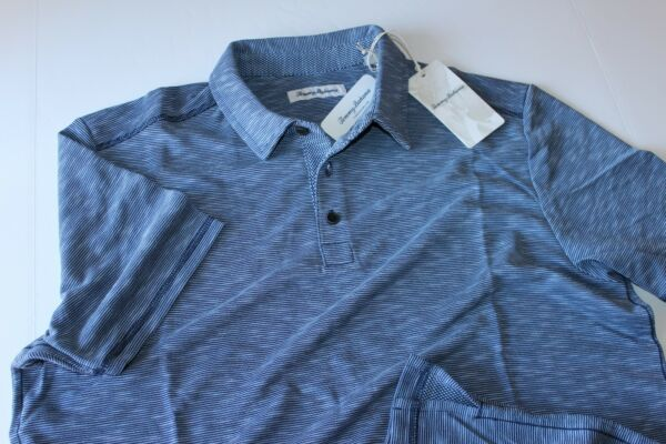 Tommy Bahama Polo Shirt Double Tempo Maritime Blue T217843 New Extra Large  XL $49.95