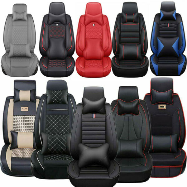 14× Luxury Car Seat Cover 5-Seats Truck SUV Protector Interior Leather Cushions