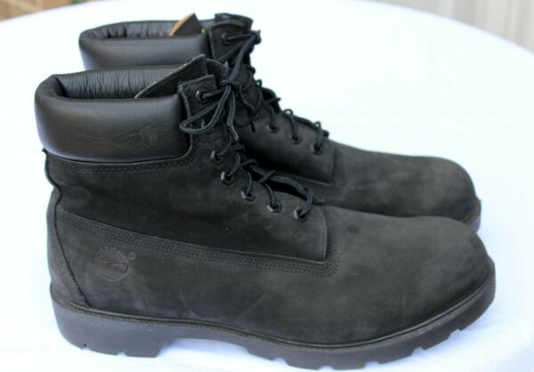 Timberland Black Size 13 Nubuck 19039 6quot; Waterproof Insulated Work Boots Lk Nw $85.00