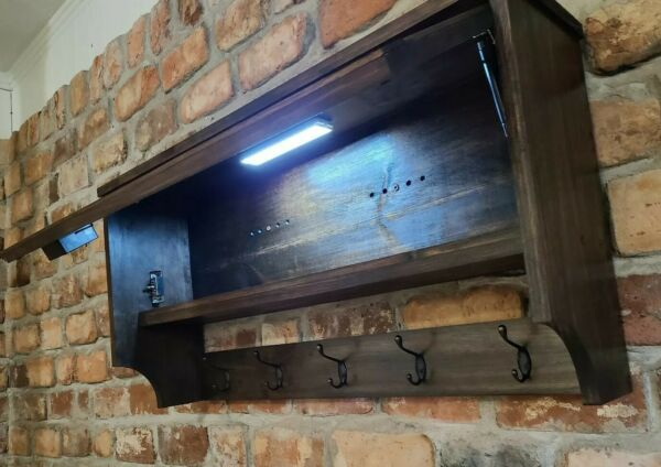 Concealed Compartment RFId lockING Shelf And Coat Rack gun safe made to order $235.00