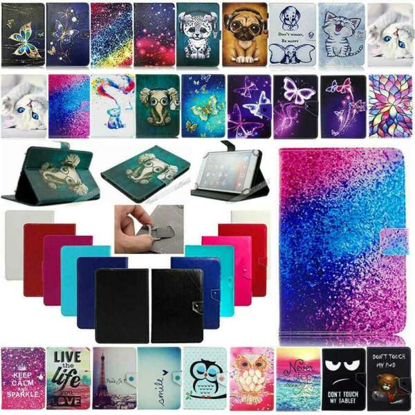 US Universal Adjustable Leather Stand Case Cover For Android Tablet 10.1