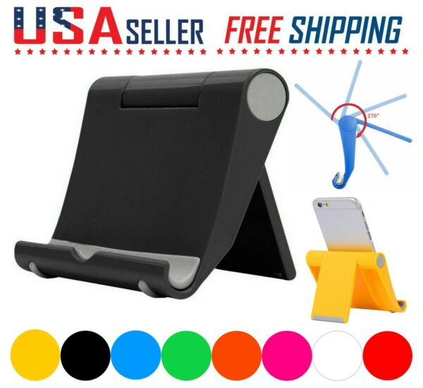 Cell Phone Fordable Desk Stand Holder Mount Cradle Dock iPhone Galaxy Switch