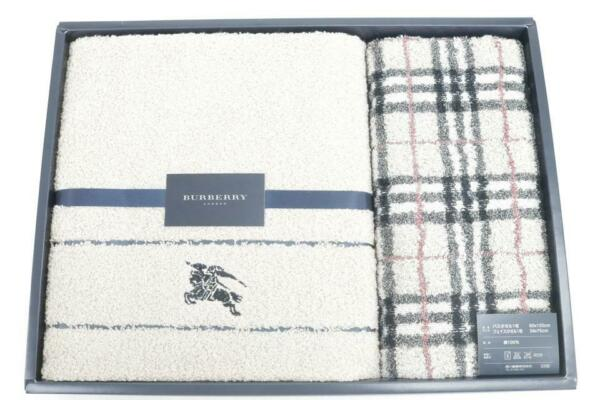 Burberry Gift Set Towel Nova Check Two Pieces 234755 $199.20