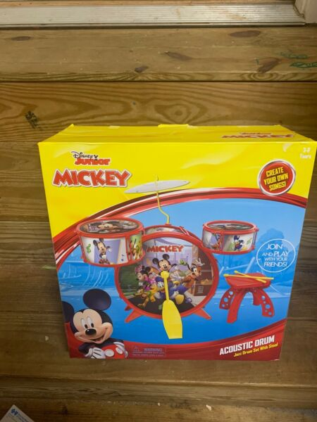 NEW! Disney Junior Mickey Mouse Clubhouse & Friends Acoustic Jazz Drum Set gift