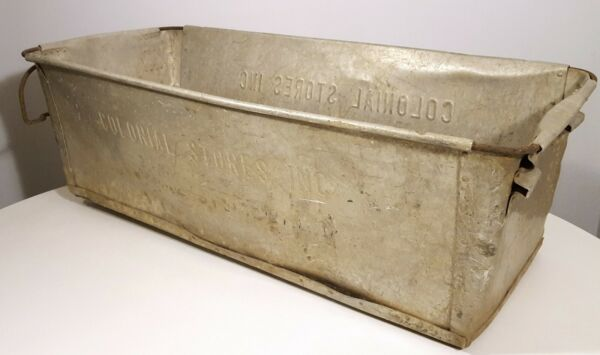 VINTAGE COLONIAL STORES HUGE METAL GROCERY STORE BIN PRODUCE STORAGE BOX