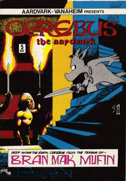 Cerebus The Aardvark  #5(VF+ SIGNED BY SIM) and 6(NM) 1978 Dave Sim Story