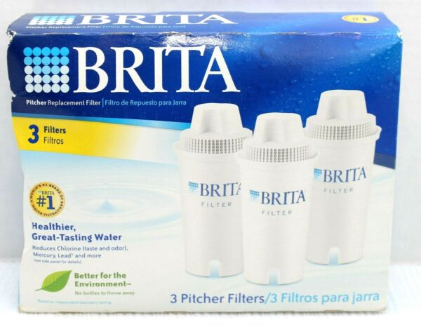 BRITA Water Filter Pitcher Replacement Filters White 3 Pack NEW amp; Sealed