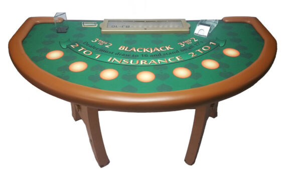 Professional Size Blackjack Table from Tropicana Casino in Atlantic City 80quot;x 45