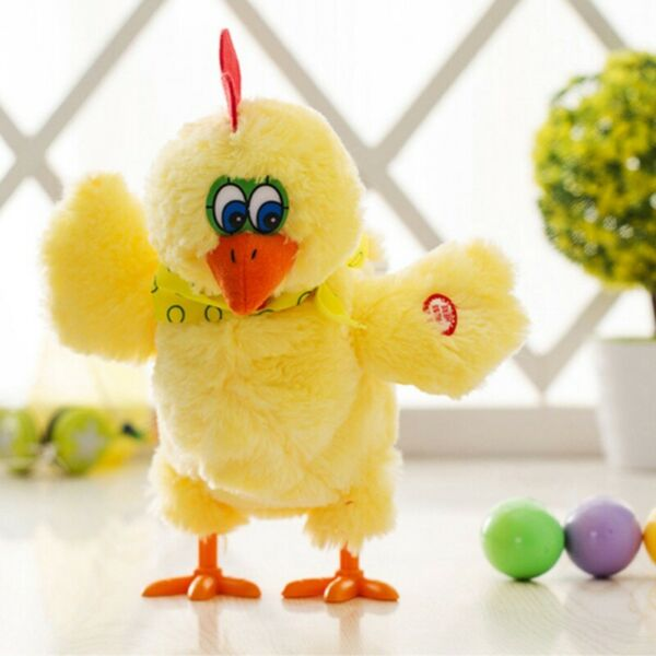 29 cm Crazy Fit Chicken Funny Electric Musical Dancing Laying Egg Doll Plush Toy