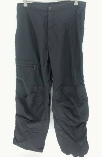 Suisse Sport Fully Zippered Lightweight Snow Motorcycle Pants Mens XL Black