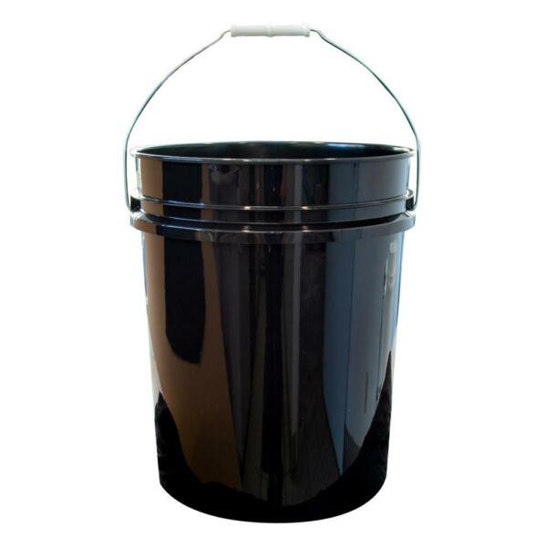 (10 PACK) Black Paint Pail 5 Gallon Bucket Metal Handle Plastic Container LOT