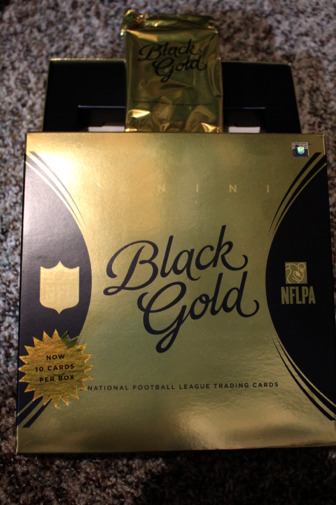 2015 PANINI BLACK GOLD HOBBY FOOTBALL BOX (SINGLE Pack) Tom Brady Auto Rodgers