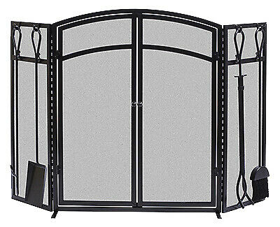 Fireplace Screen With Tools