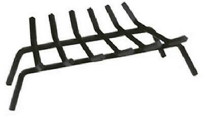 27-Inch Black Wrought Iron Fireplace Grate