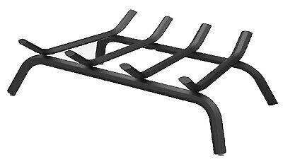 18-Inch Black Wrought Iron Fireplace Grate