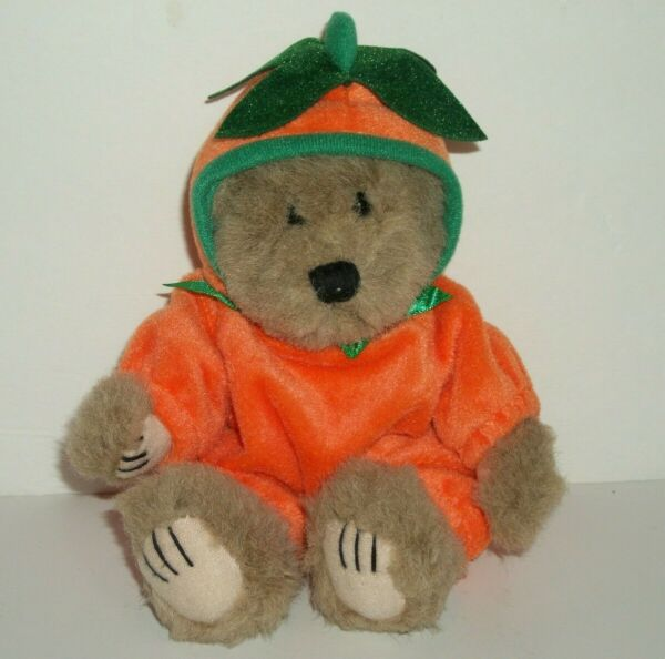 Vintage Wishpets Lil Pumpkin Teddy Bear 1999 Collectable 8