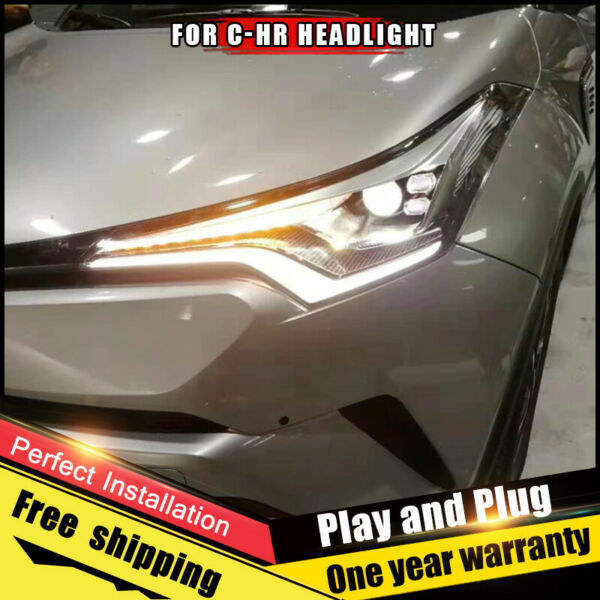For Toyota C-HR Headlights assembly ALL LED Lens Double Beam HID KIT 2018-2019