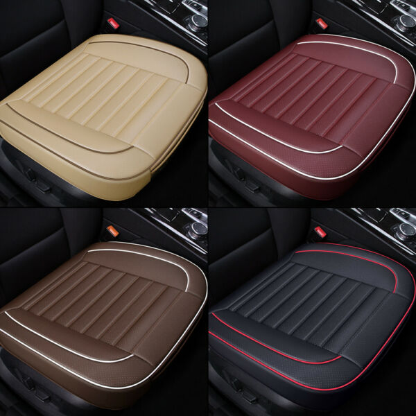 PU Leather Breathable Front Rear Car Seat Cover Chair Cushion Pad Mat Protector $13.98