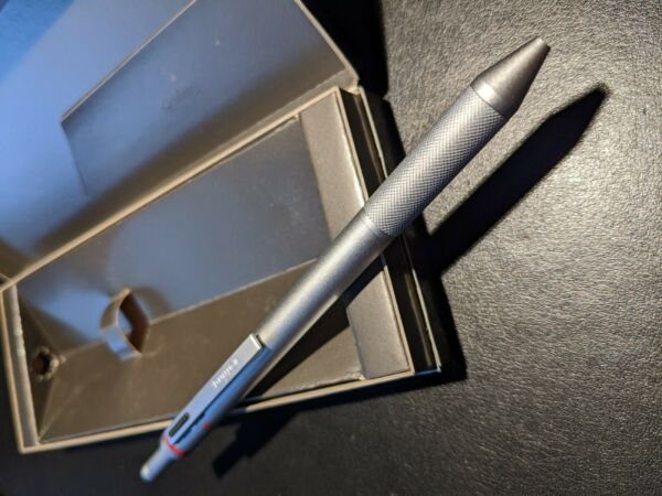 ROTRING TRIO PEN. NEW. 0.5 mm pencilblue amp; Red ink 1st series knurled grip.