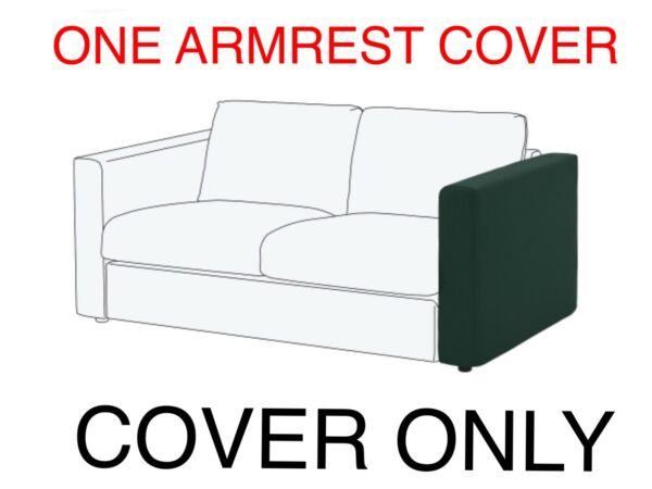 IKEA VIMLE Cover SLIPCOVER for ARMRESTS Gunnared dark green $39.78