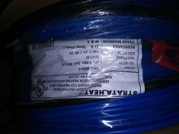 Laticrete Strata Heat Wire HW Heating Cable 240V 3240W Covers 829 sf $600.00