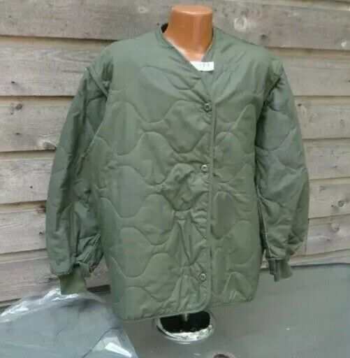 GENUINE US MILITARY CAMOUFLAGE GREEN 483 AIRCREW COLD WEATHER Jacket LINER XL