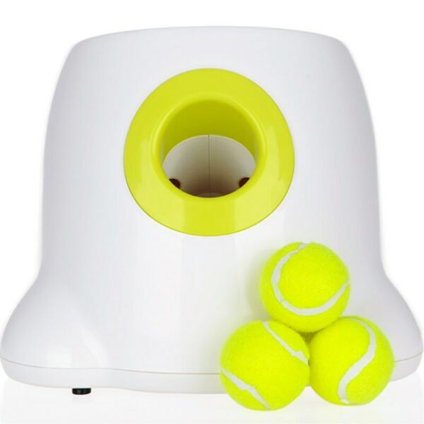 Dog Pet Toys Tennis Launcher Automatic With 3 Balls Throwing Machine Pet Ball