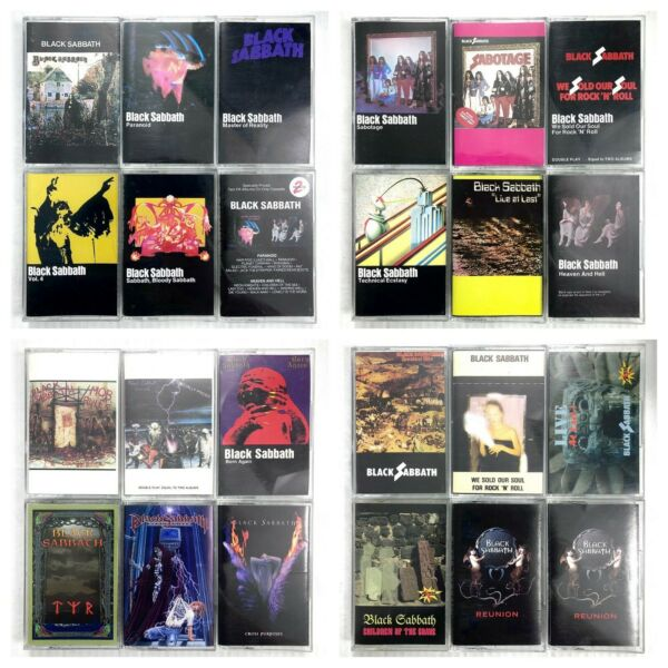 BUILD UR OWN Metal Cassette Tape Lot Black Sabbath Maiden Metallica More