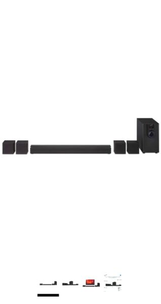 iLive 5.1 Home Theater System with Bluetooth, Wall Mountable, 26 Inch Speaker wi