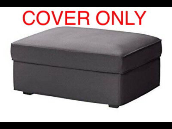 IKEA KIVIK Cover SLIPCOVER for Ottoman with Storage Slipcover DANSBO Dark Gray $35.00
