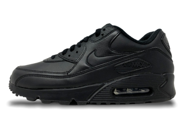Nike Air Max 90 Leather Black Mens Lifestyle Shoes 302519 001 All Sizes (NEW)