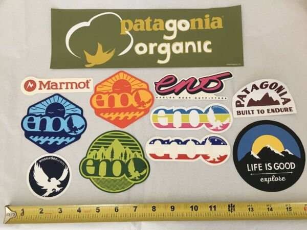 Lot of 11 ENO Hammock Marmot Patagonia Life is Good Sticker Assorted $14.00