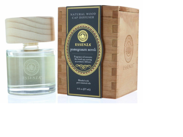 Essenza Pomegranite Neroli Natural Wood Cap Reed Diffuser Blended with Pure Ess $29.99