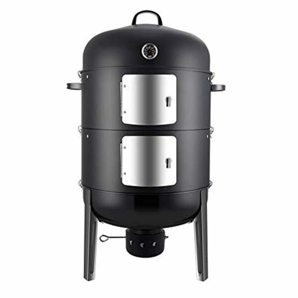Charcoal BBQ Smoker Grill 20quot; Vertical Grilling Outdoor Cooking Heavy Duty Steel