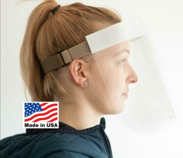 Lexan Polycarbonate Face ShieldAdjustableMade in USA (2000 Units)