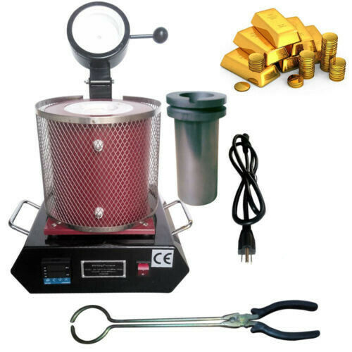 Auto Electric Melting Furnace 2KG Gold Melting Furnace 2102℉ For Precious Metals $204.02