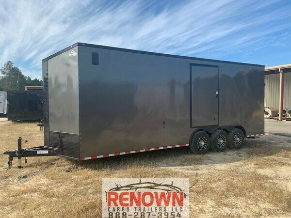 **NEW** 8.5X24 Triple Axle RACING Enclosed Cargo Trailer 5 YR WARRANTY $13499.00