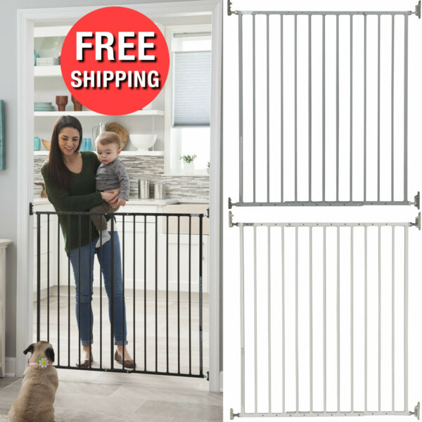 Extra Tall Walk Thru Safety Gate Baby Indoor Security Dogs Pets Door Gates Fence