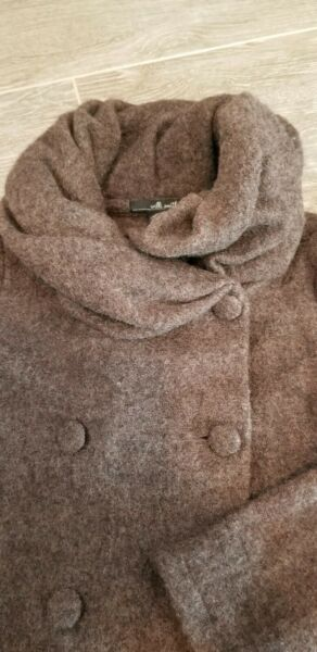 Willi Smith Women's Double Breasted Sweater Jacket Taupe size Medium