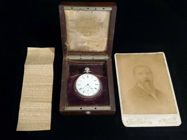 Patek Philippe RARE silver and Gold Accented 1871 Pocket Watch  prominent past