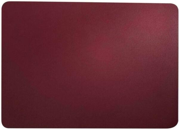Asa Placemat Placemat Tablecloth Placemat Faux Leather Red