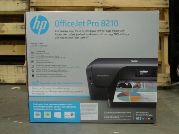 HP OfficeJet Pro 8210 Wireless Printer D9L64A/B1H Brand New Instant Ink Ready