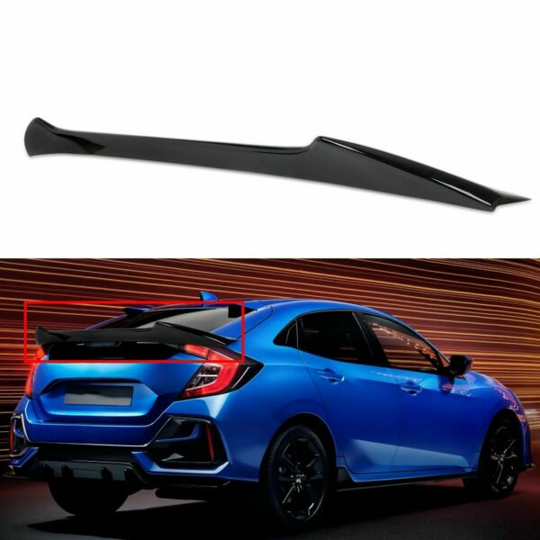 For 2017-2020 Honda Civic 10th 5D Hatchback Glossy Black Trunk Spoiler Wing
