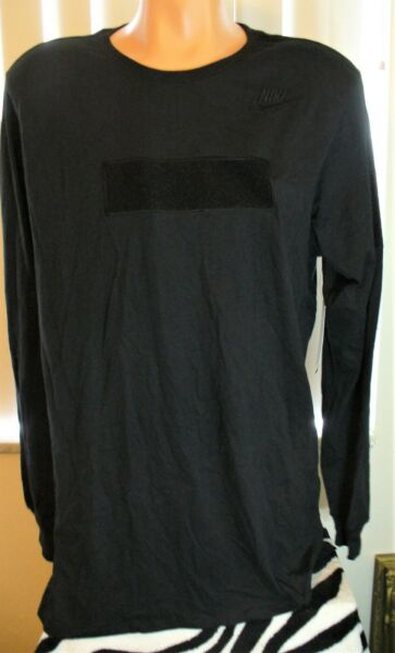 NEW NIKE MEN'S LONG SLEEVE BLACK DROP TAIL TEE SIZE LARGE   A00986 010 $19.95